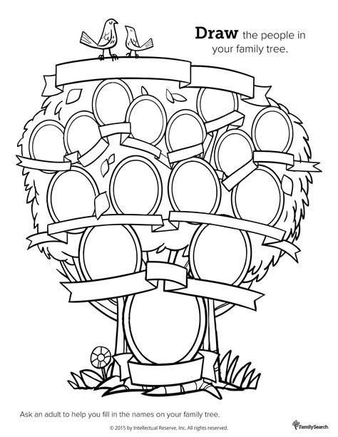 Family Tree Coloring Pages Coloring Home Family Tree Coloring Pages Printable
