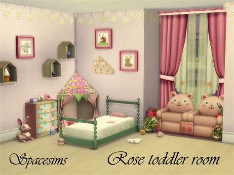 toddler bedroom furniture spacesims rose toddler room 13534   w 800h 600 2818099