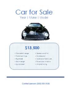 template for sale of car 5 free car for sale flyer templates excel pdf formats