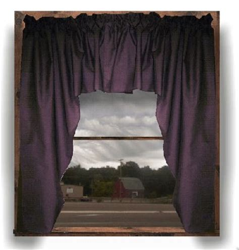 eggplant curtains window treatments kitchen swag valance curtains eggplant purple swag