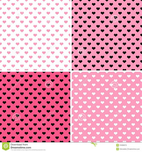 heart pattern repeat pink hearts stock illustration image of texture four