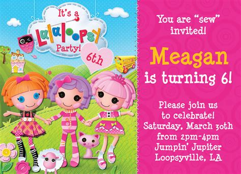 Lalaloopsy Birthday Invitations Party Invitations Ideas | 40th birthday ideas may 2015