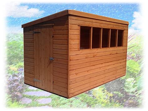 pent deluxe shiplap shed 10 215 8 theshedshop sky