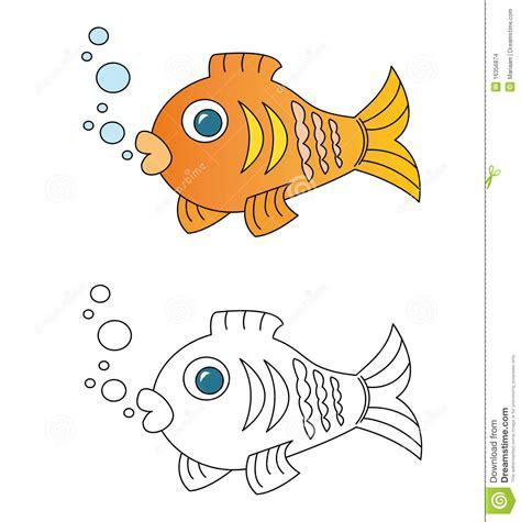fish cartoon stock illustration image  book swimming