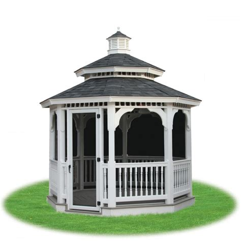 vinyl gazebo wood and vinyl gazebos pine creek structures