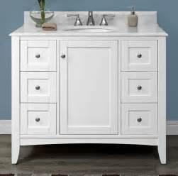 shaker americana 42 quot vanity polar white fairmont