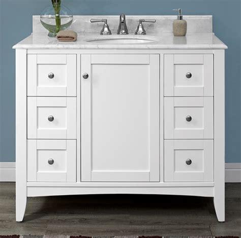 Shaker Bathroom Vanity Shaker Americana 42 Quot Vanity Polar White Fairmont Designs Fairmont Designs