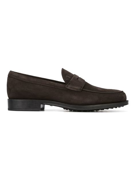 tod loafers for tod s loafers in brown for lyst