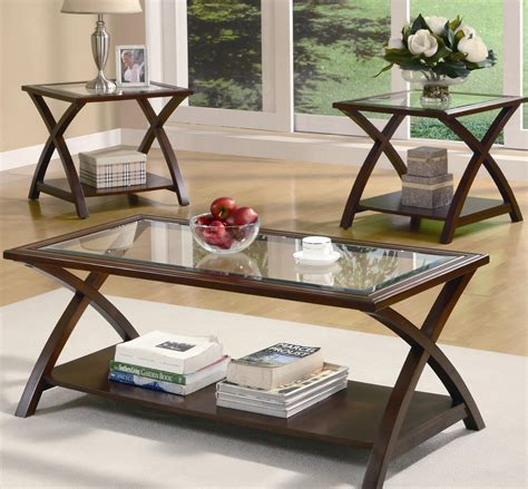 Coaster Furniture 3 Piece X Occasional Table Set Aim 3 Coffee Table Sets