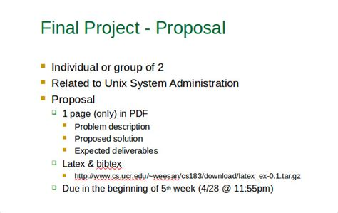 ppt templates for final year project project proposal template 56 free word ppt pdf