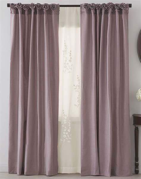 windows with curtains dkny rosette window curtain panel curtainworks com