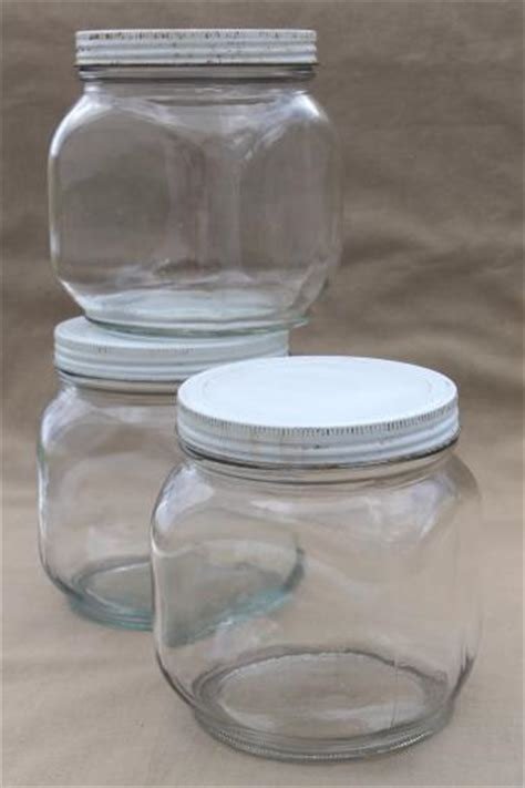 Glass Pantry Containers by Vintage Glass Pantry Jars Lot Large Glass Jar Canisters
