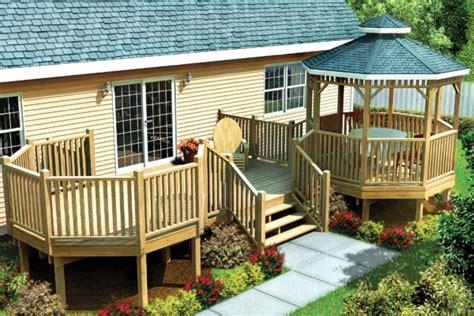 Bi Level House Plans With Attached Garage project plan 90035 modular gazebo picnic deck