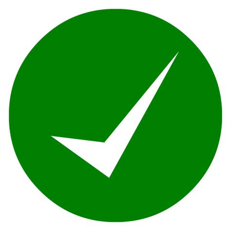 Green Check Icon Transparent Background Green Check Transparent Images