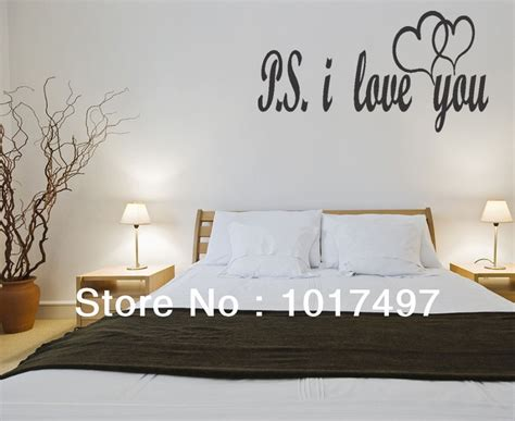 vinyl wall sayings for bedroom aliexpress com buy free shipping large size ps i love