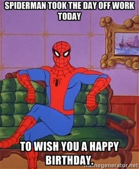 Spiderman Birthday Meme - fantastic funny spiderman happy birthday wishes nicewishes