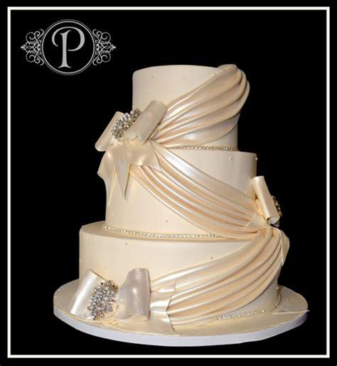 draping fondant fondant cascading drape wedding cake palermo s custom