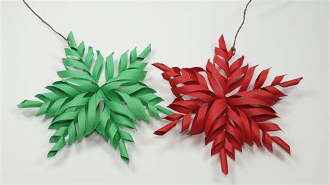 How To Make Snowflake Decorations Out Of Paper - 3d snowflake diy tutorial how to make 3d paper