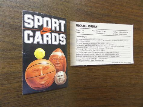 Nike Gift Card Value - coach s corner 1985 nike sport cards unopened pack w original michael jordan promo