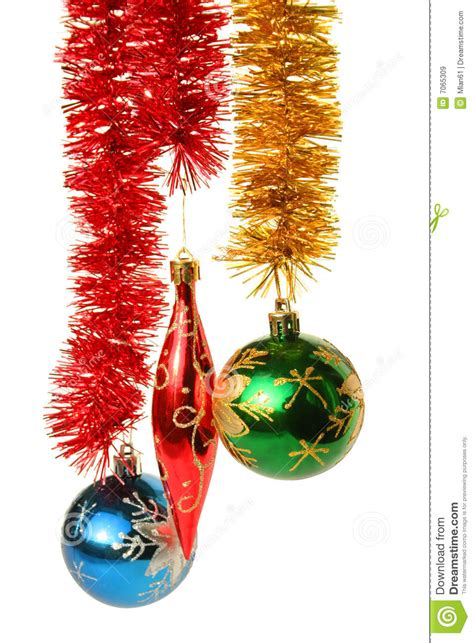 hanging christmas ornaments stock image image 7065309