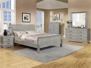 5 pc louis phillipe grey bedroom set