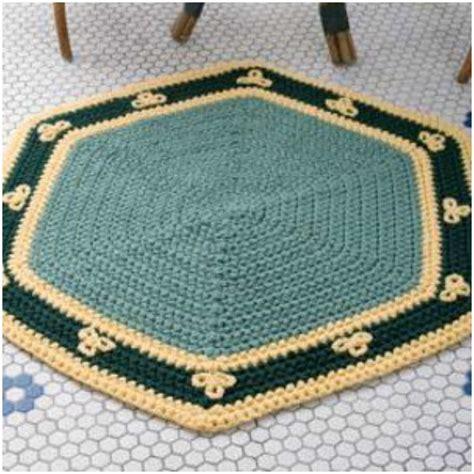 hexagon pattern rug easy crochet rug quot hexagon quot stylesidea
