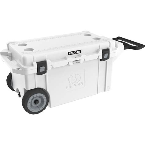 heavy duty coolers with wheels pelican 80qt rolling elite cooler poco marine vancouver