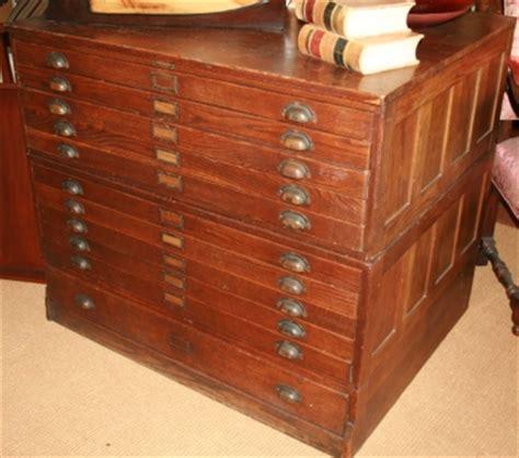 sold antique circa 1900 oak 11 drawer map file cabinet