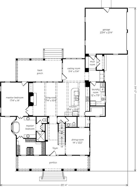 southern living house plan except for an office