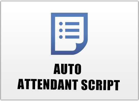 auto attendant script template auto attendant script template choice image free