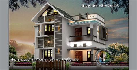 1440 sq ft floor happy home villa 6 design