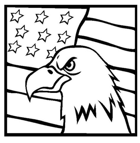 coloring pages american eagle american eagle and us flag veterans day coloring page