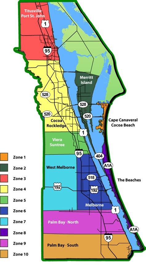 Brevard County Florida Records Brevard County Fl Zip Code Map