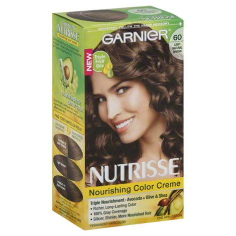 hair color that looks natural on 60 year old women garnier nutrisse nutricolor 60 light natural brown