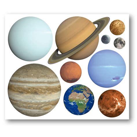 planet wall stickers planet wall stickers set of 10 solar system stickers