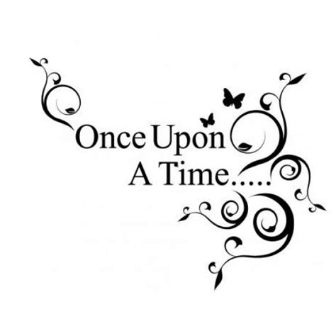once upon a time wall quotes decal vinyl lettering by