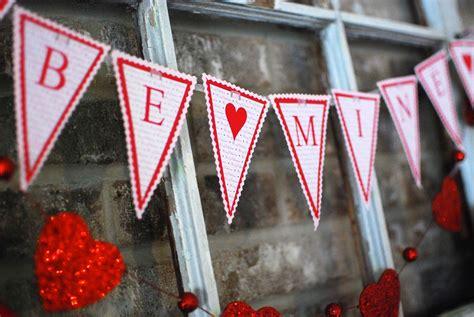 printable valentine banner very merry vintage syle free printable valentine pennant