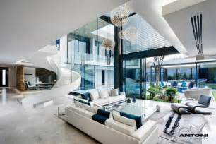 house modern family room opulent modern home in houghton living room design with fancy stairs