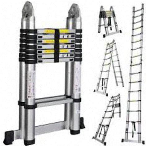 Tangga Multipurpose Alumunium 5 7 Meter Tangga Lipat Multi Purpose jual tangga aluminium telescopic multipurpose 5 meter