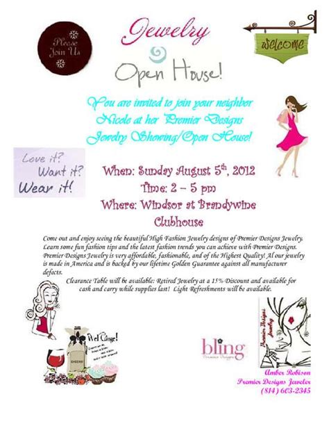 premier design home show ideas jewelry party invite idea premier designs jewelry
