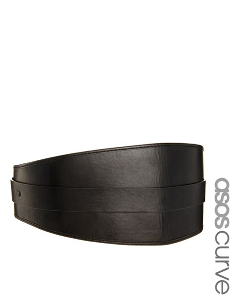 The Waistcincher At Asoscom by By Zo 233 Asos Curve Wide Waist Cincher Belt In Black Lyst