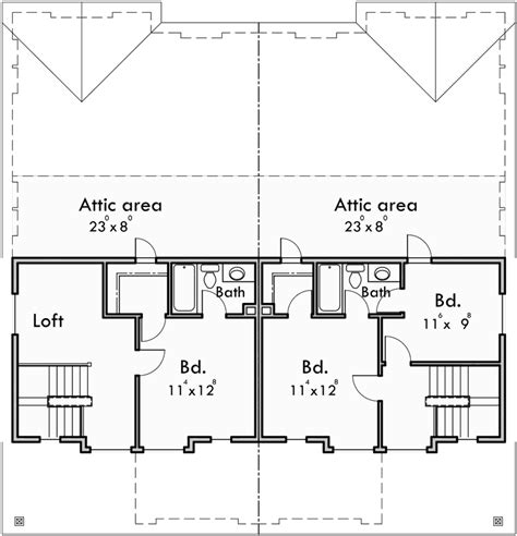 duplex bungalow house plans craftsman duplex house plans bungalow duplex house plans d 447