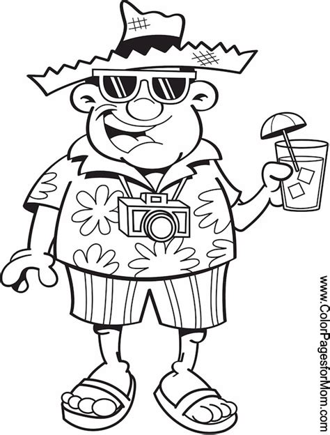 free vacation coloring pages
