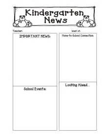 Kindergarten Newsletter Templates Free 6 best images of s kindergarten monthly newsletter
