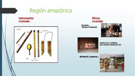 imagenes instrumentos musicales de la region amazonica instrumentos y ritmos folcl 243 ricos de las regiones
