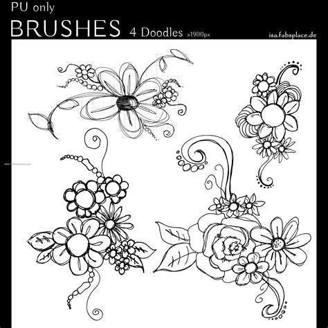 doodle free brush doodle flowers