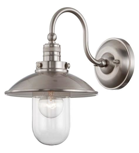 Edison Wall Sconce Minka Lavery Downtown Edison 1 Light Wall Sconce Brushed Nickel 71162 84 From Downtown Edison