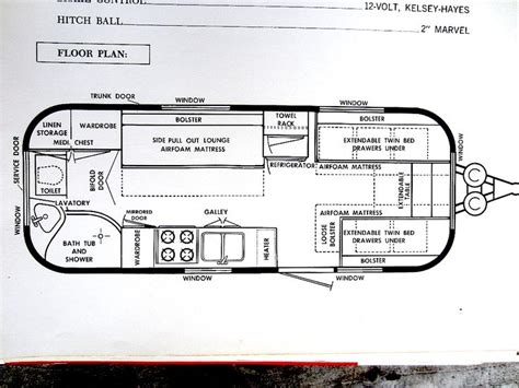 vintage airstream floor plans 21 best images about airstream food truck on pinterest