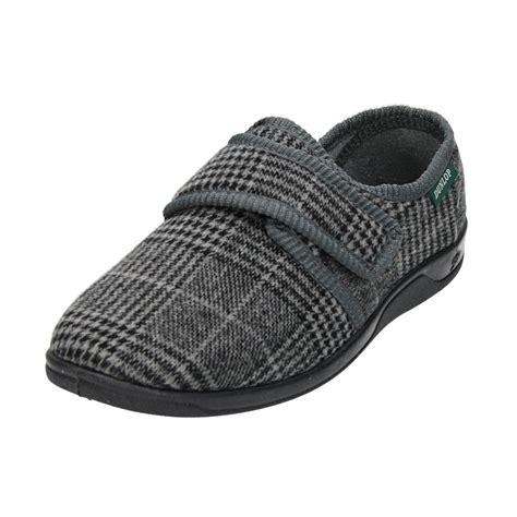 mens velcro slippers dunlop mens velcro fastening adjustable slipper cosy house