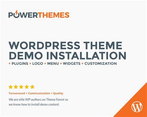 wordpress theme x demo content wordpress theme demo content plugins installation by